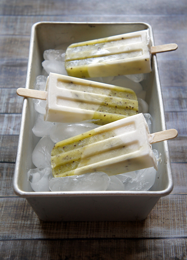 Sugary & Buttery - Drunken Kiwi Coconut Popsicles
