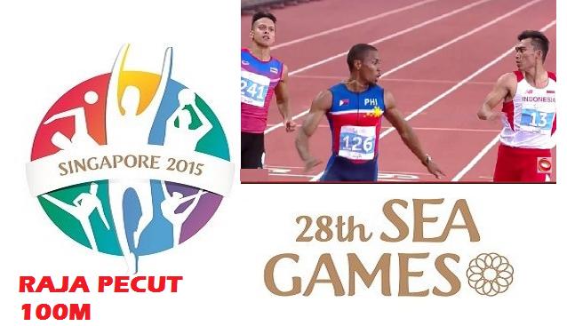 Juara Raja Pecut 100m Sukan SEA 2015