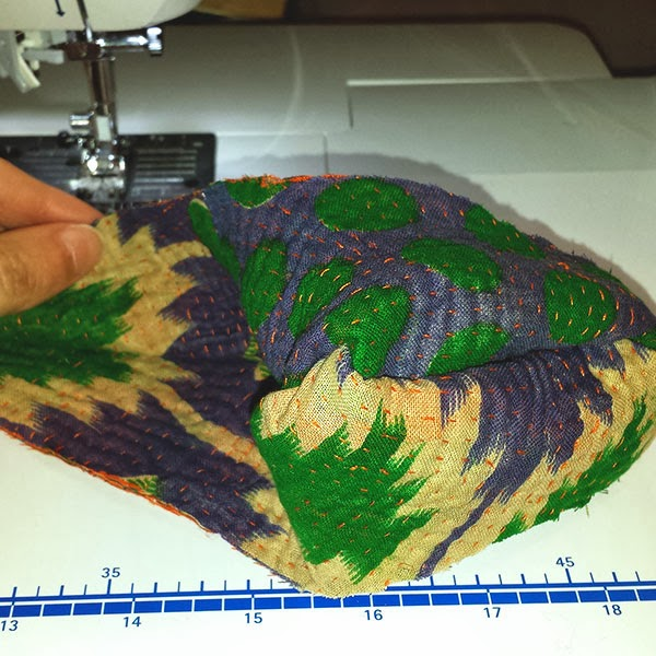 Sewing Kantha Fabric Collars with Santina Cessor-7