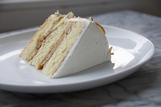 ... butter cake. espresso buttercream. apricot. almond mascarpone cream