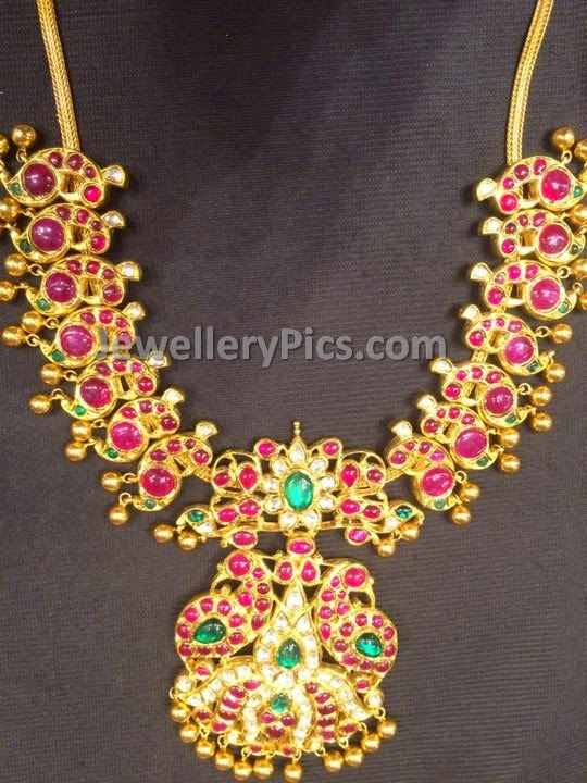 Burma ruby diamond necklace