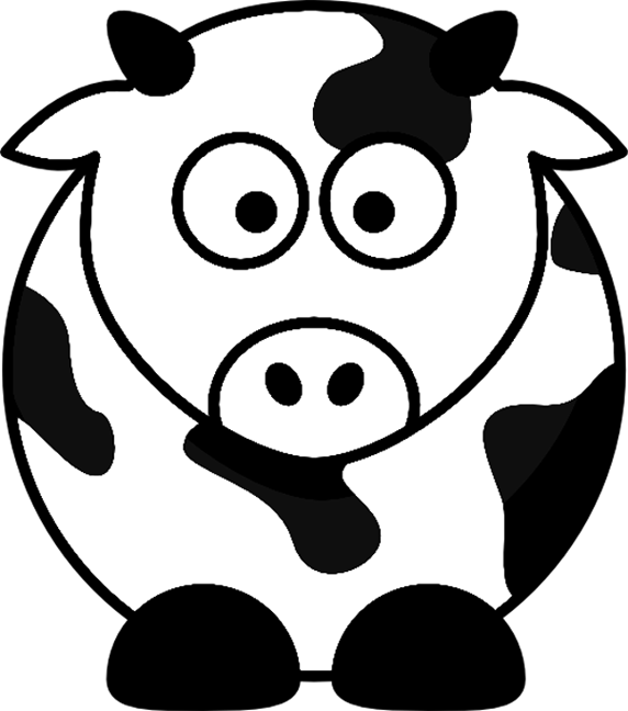 Cartoon Farm Animals Coloring Pages title=