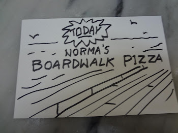 Sign Dave made me for the Boardwalk style of pizza