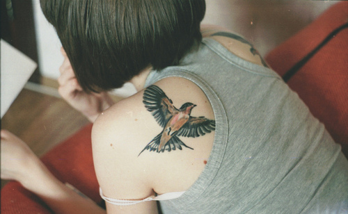 bird tattoos on shoulder