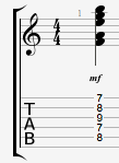 Fmaj9#11 guitar chord