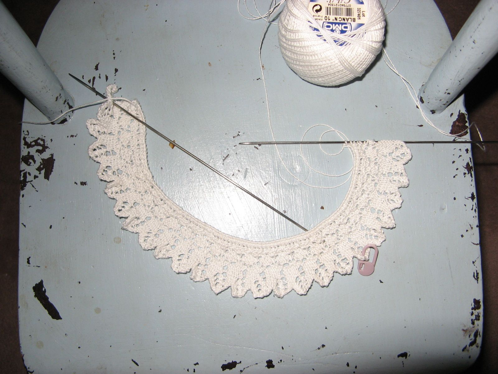 Knitting Pattern For Lace Collar : One More Stitch: July 2011