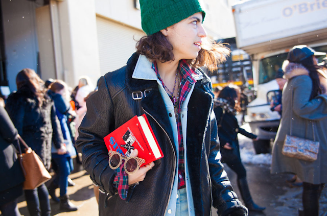 Snowy street style at New York Fashion Week: Outside Rag Bone Snowy street style at New York Fashion Week: Outside Rag Bone new picture