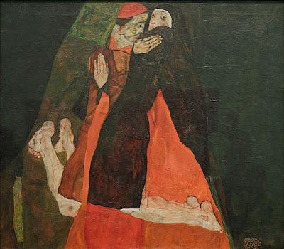 Egon Schiele - Le cardinal et la none, 1912
