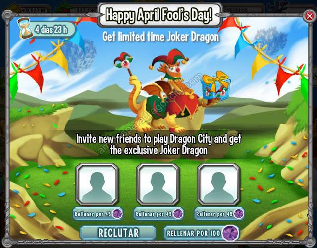 invita a 3 amigos y gana el dragon Joker