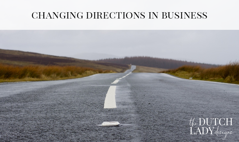 changing directions in business