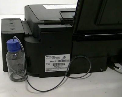 How To Drain The Ink Reservoirs In Epson L355 En Rellenado