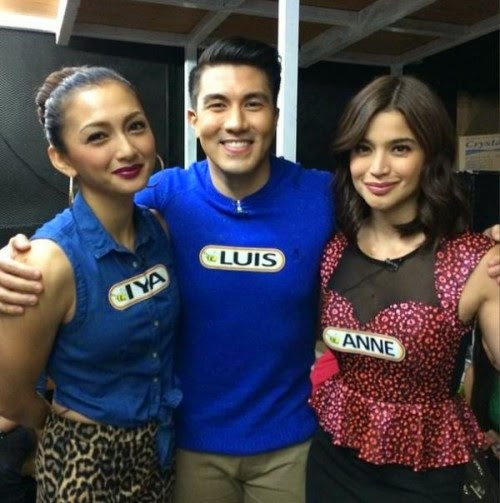 Iya Villania, Luis Manzano, Anne Curtis in The Singing Bee