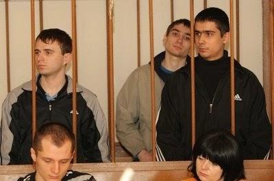 Foto dos maníacos de Dnepropetrovsk, 3 Guys 1 Hammer, assassinatos na ucrânia, Viktor Sayenko e Igor Suprunyouck, prisão, julgamento, Blog Mortalha