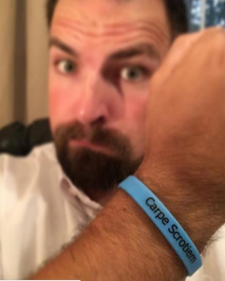 Click here to order a free Carpe Scrotiem bracelet.