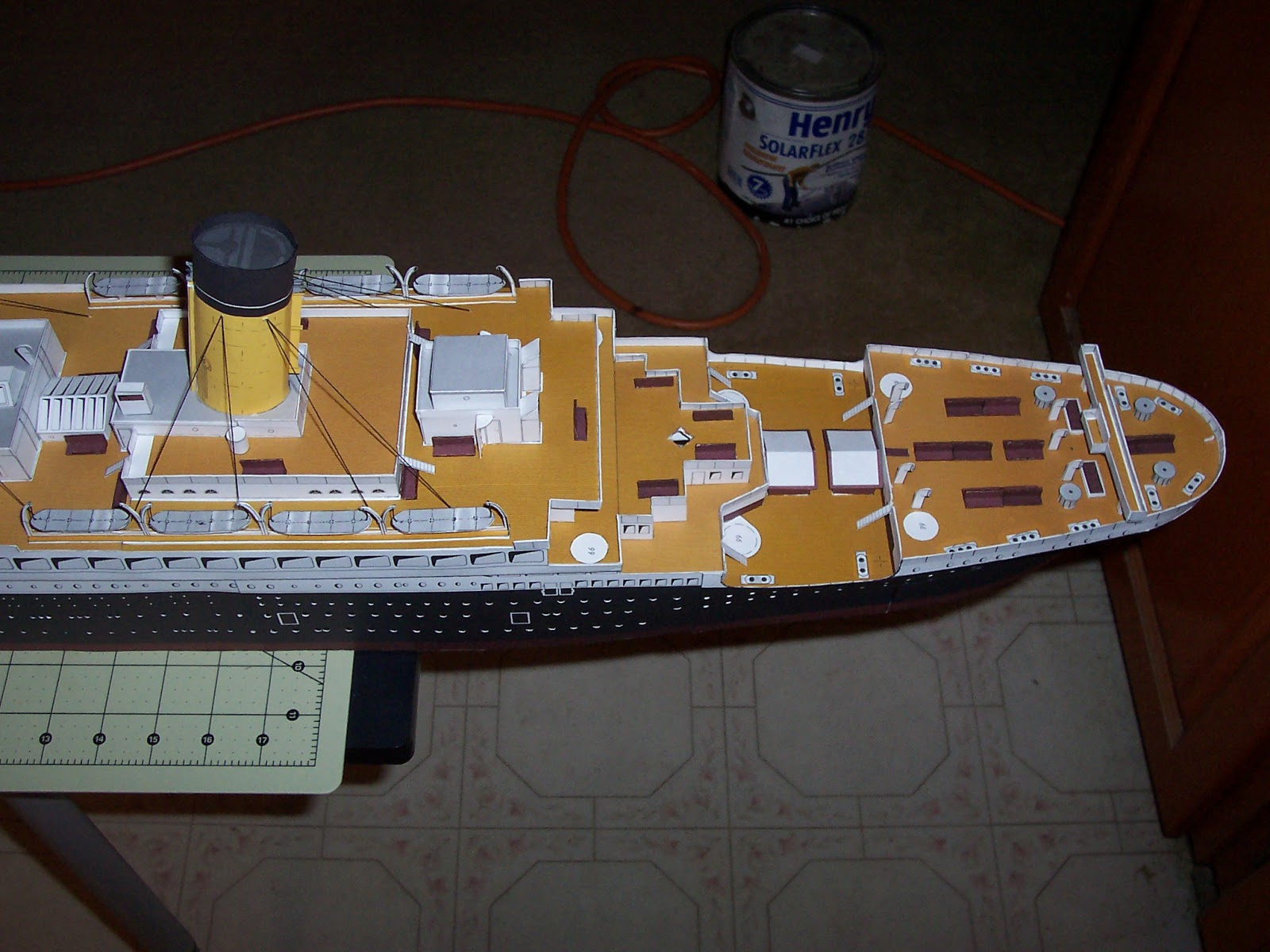 how to make a cardboard titanic