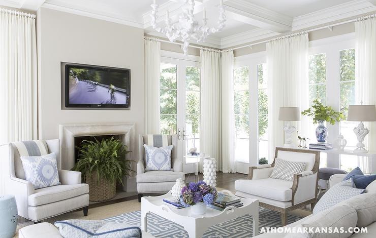 In my style home and garden kolory we wn trzu czyli - Casas decoradas en blanco ...