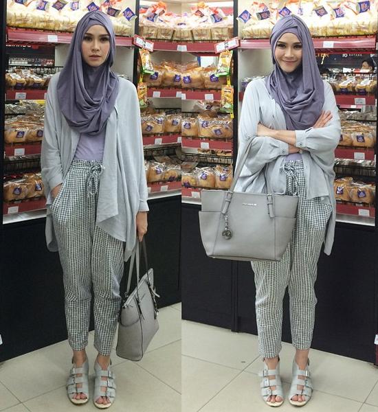 Inspirasi Style Hijab Ala Artis