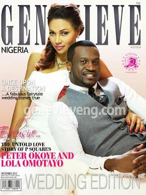 Genevieve Magazine wedding edition+loladeville+Lola and Peter Okoye
