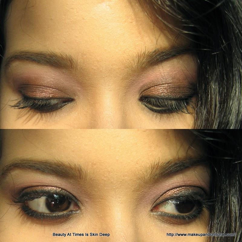 Smokey copper Eye makeup for day time