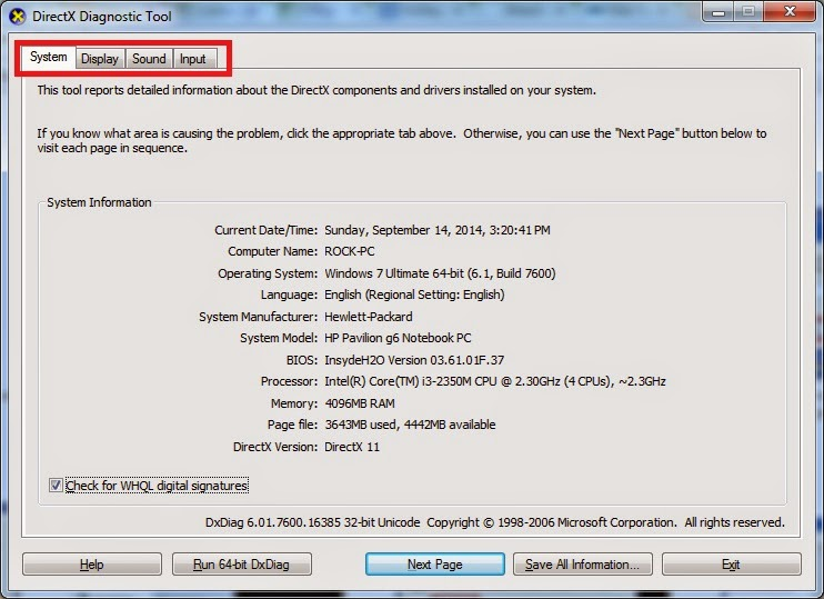 How to Check Computer Specifications and Information in XP, Vista and Seven