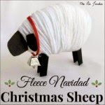 Fleece Navidad Christmas Sheep