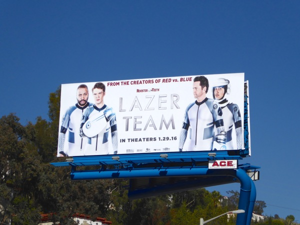 Lazer Team movie billboard