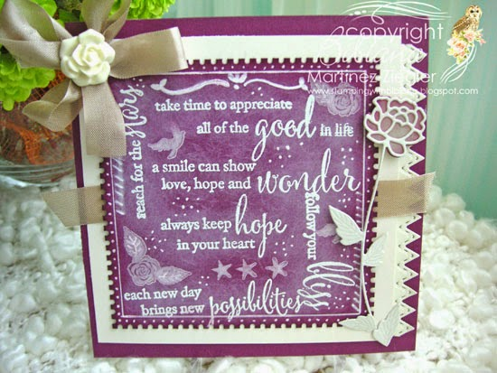 chalkboard sentiments using Memory Box stamps