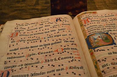 illustrated manuscript, religious, illuminated, very old, book