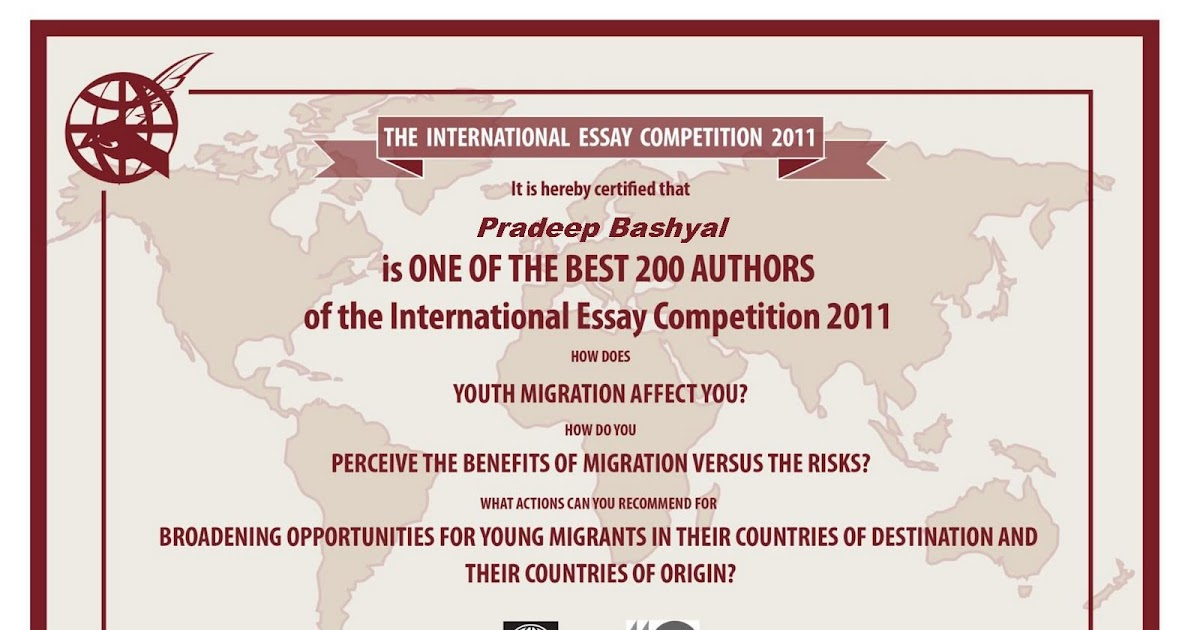 world bank essay writing competition 2012 Student essay contest results 2017 essay contest results there are two co-winners in the graduate category this year : audrey laurin-lamothe, université du.