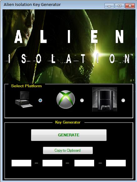 Alien Isolation Key Generator