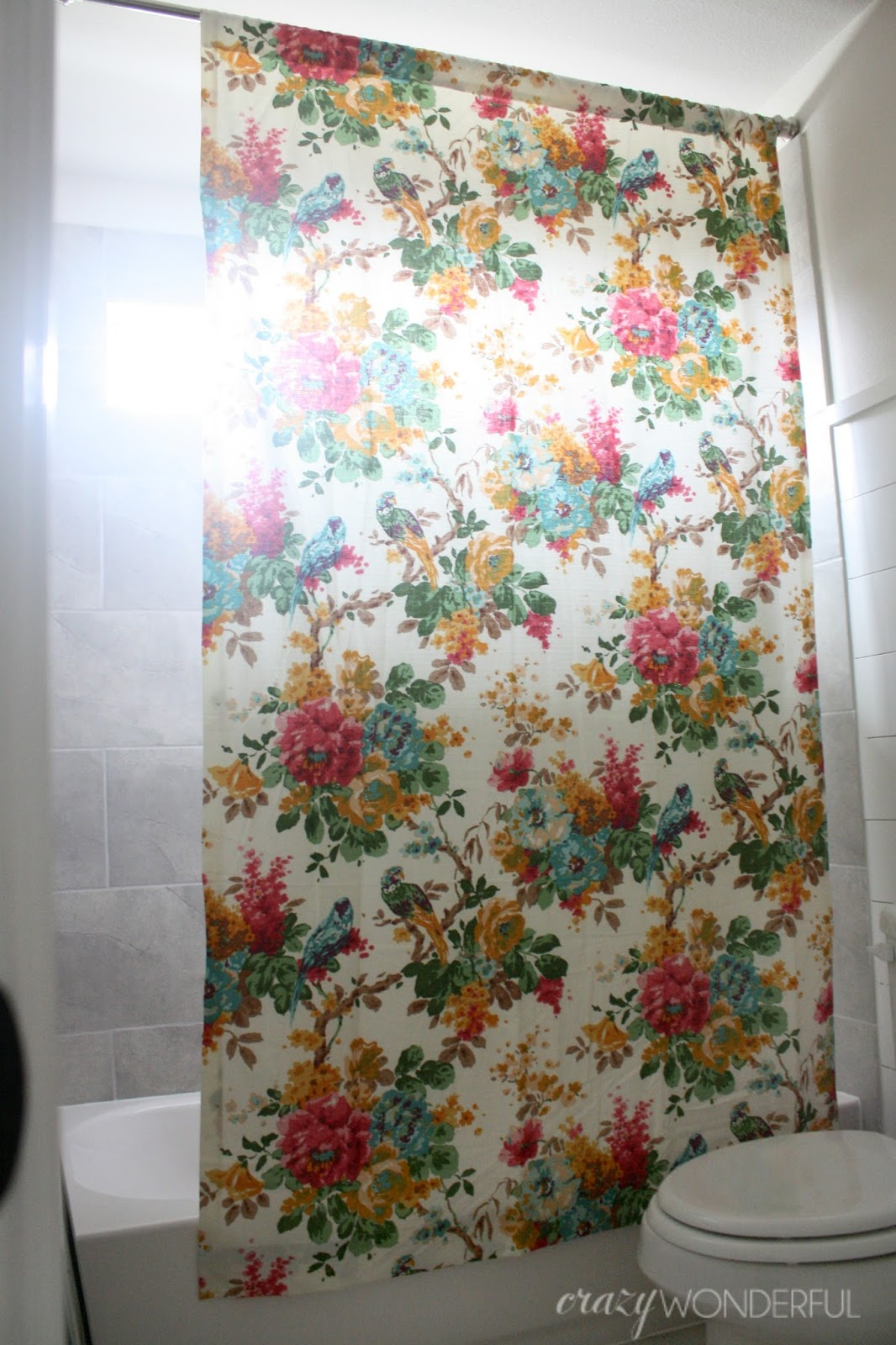 Turn Window Shower : How to turn a window curtain into shower crazy
