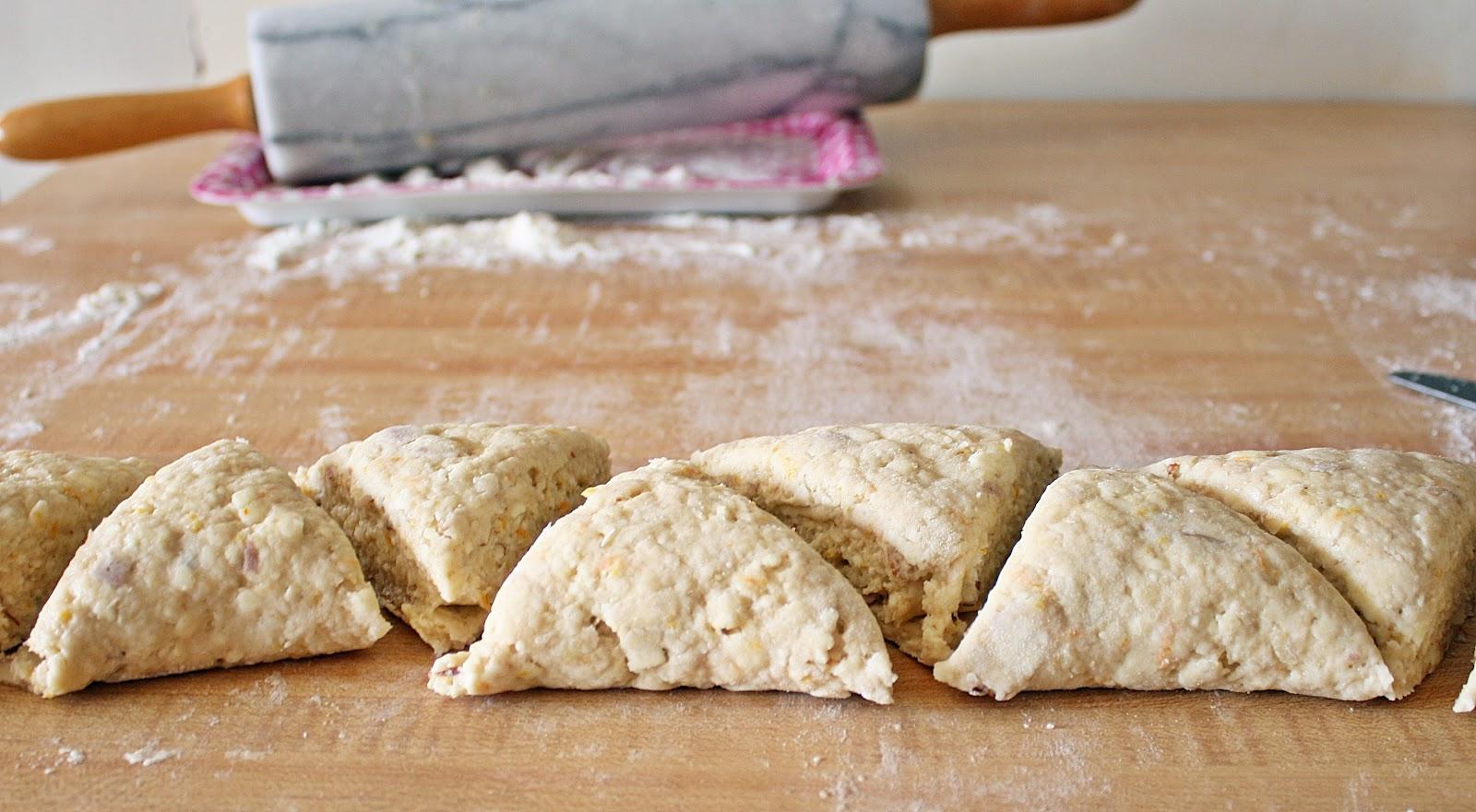 back to basics: orange almond scones