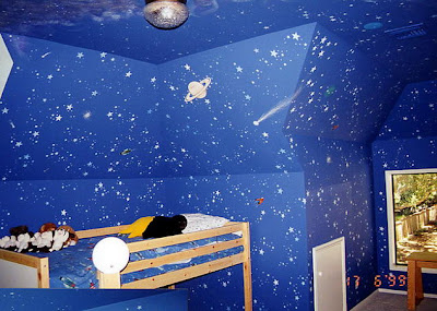 sky blue painting kids bedroom