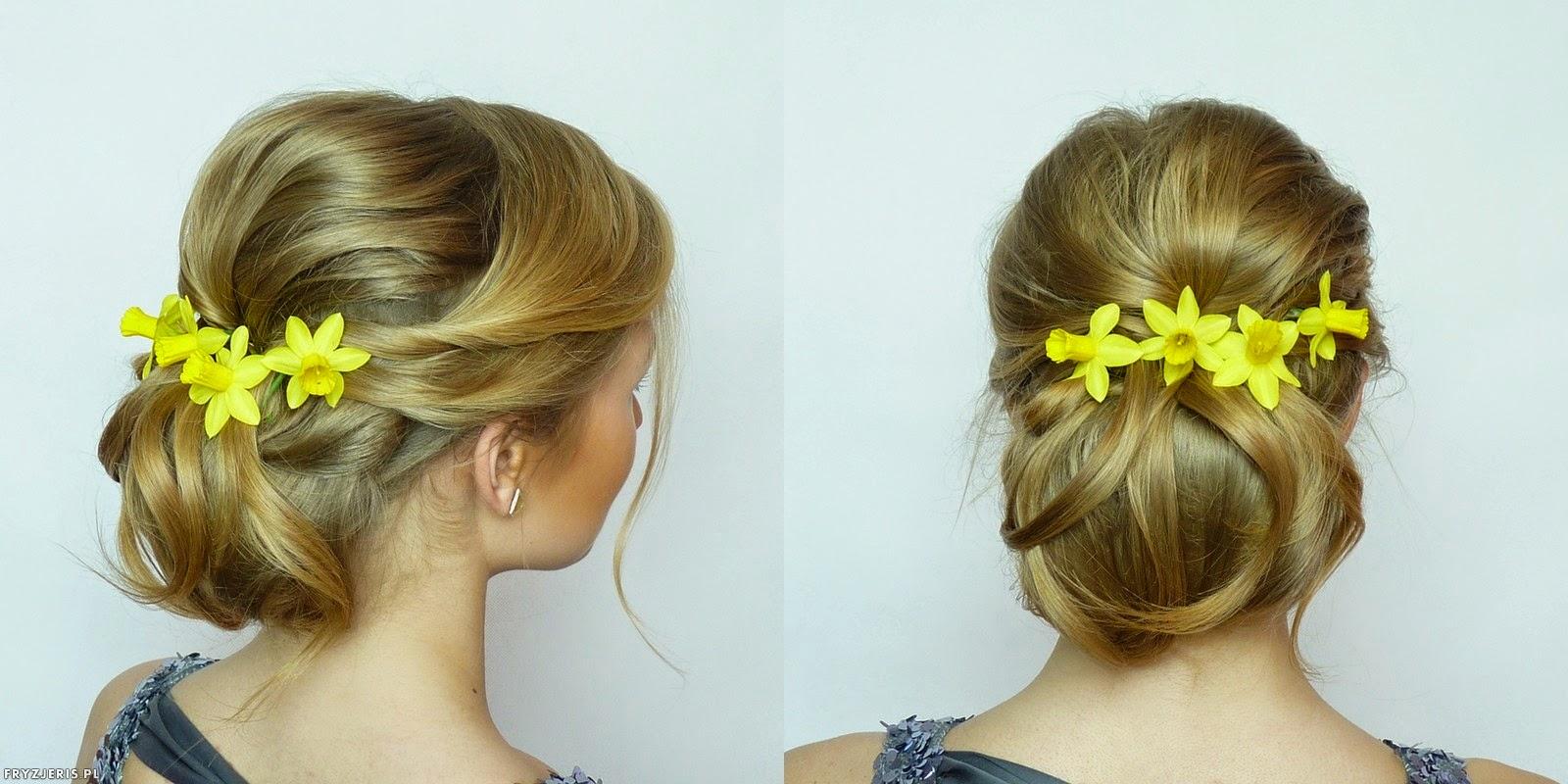 fryzura ślubna z kwiatami - 5
