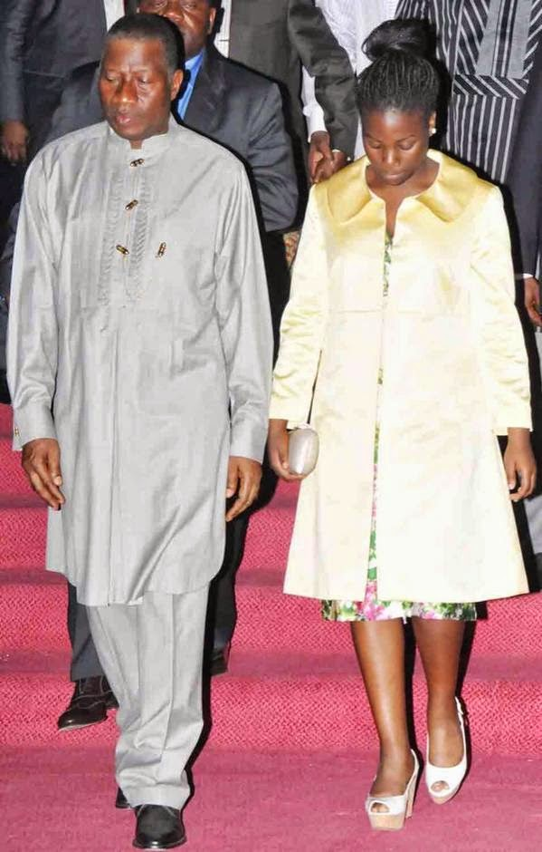 President Jonathan And Daughter Step Out For Gen.Yakubu Gowon's 80th Birthday Thanksgiving – Photos