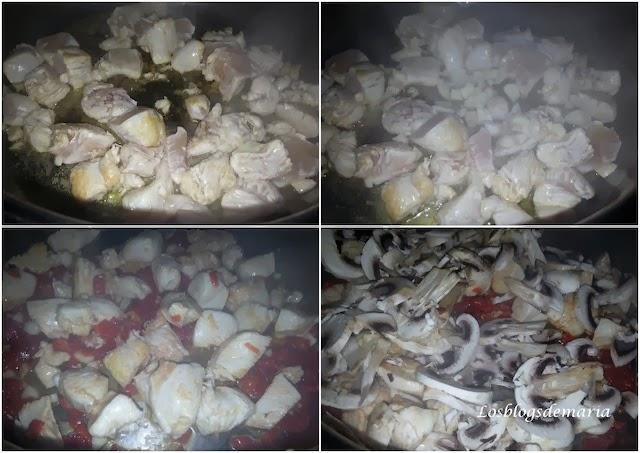 Arroz con pollo y champiñones, receta asaltablogs