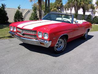 1970 Red White Striped Chevelle