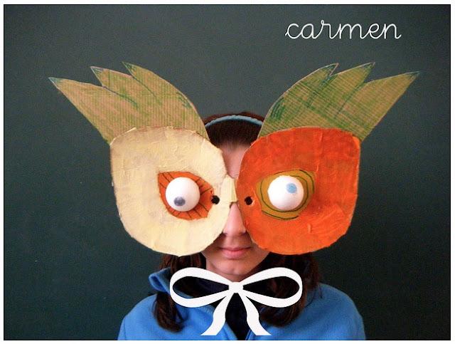 Maschera Buffa di Carnevale da Riciclo Creativo Cartone