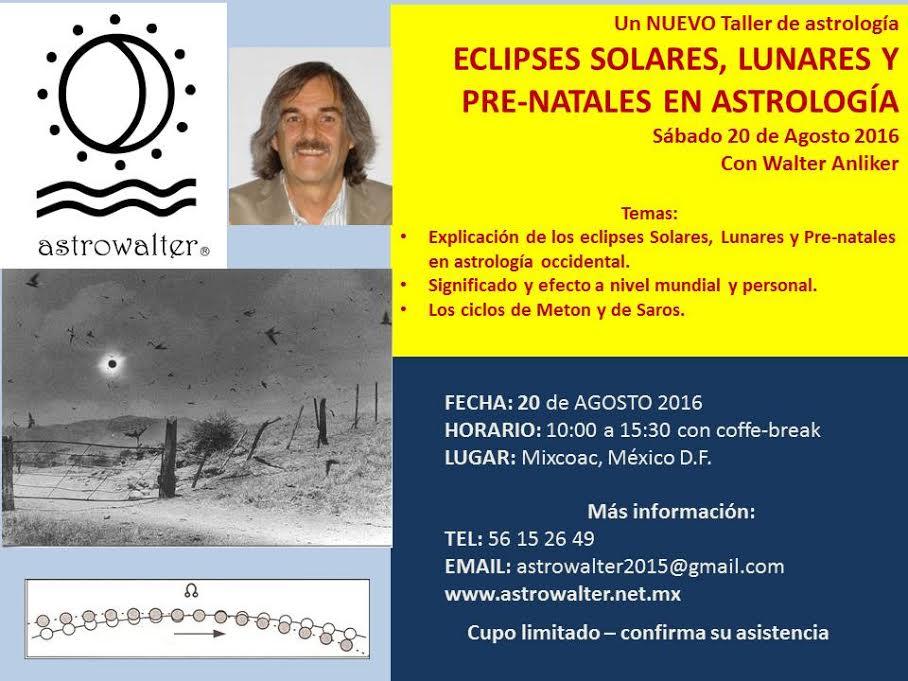 ECLIPSES EN ASTROLOGIA TALLER INTENSIVO