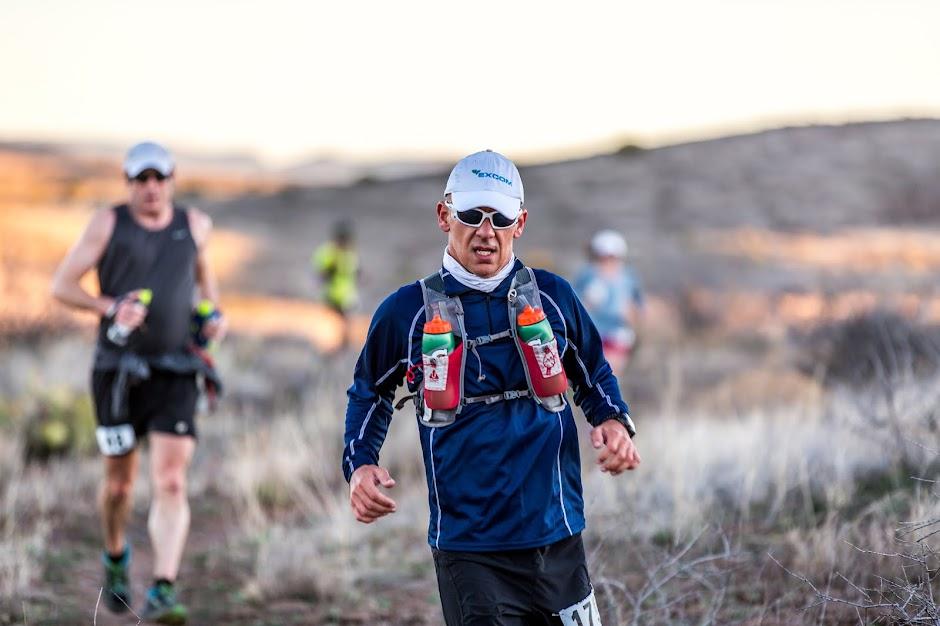 José Luis Munné, corriendo tras la Meta