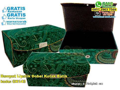 Dompet Lipstik Dobel Kotak Batik