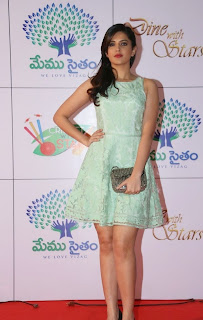 Actress Deeksha Seth Latest Pictures in Short Dress at Memu Saitam Dinner with Stars Red Carpet  35.jpg