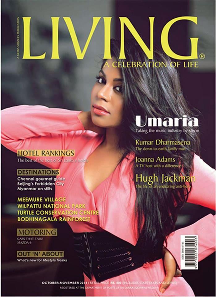 UMARIA SINHAWANSA PERERA cover shoot