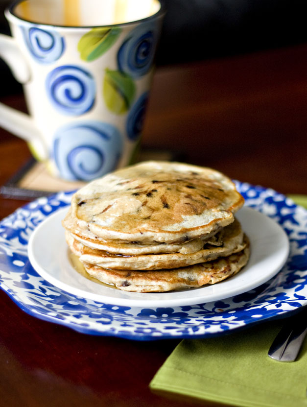 Erica's Sweet Tooth » Whole Wheat Chocolate Chip Buttermilk Pancakes