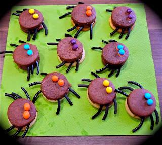 Galletas de Halloween araña