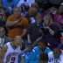 Woman hit in face with basketball at Kings-Hornets game (Video)