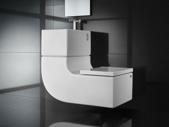 Moderno Lavabo e inodoro con estilo contemporáneo