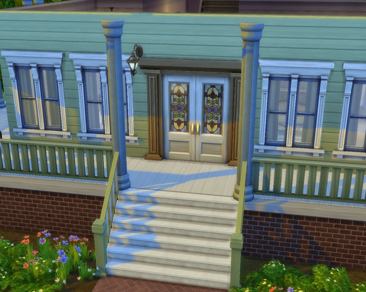 My Sims 4 Blog Maxis Framed Double Door With Stained