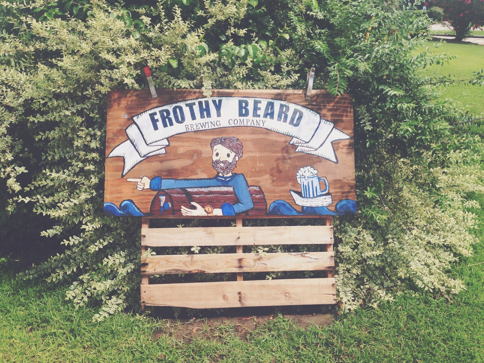 Frothy Beard Brewing Company Sign
