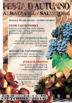 FESTA D'AUTUNNO - ABBADIA SAN SALVATORE: 8-9-10 e 14-15-16 Ottobre 2015